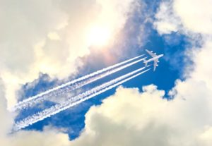 The Climate Impact Gets Reduced Of Contrails By 59%, Made Due To The Small Change In Altitude Of Airplane!